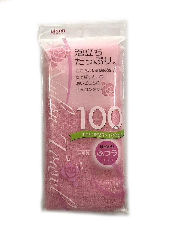 Toalha japonesa de banho 28cmx100cm BHN01 - Normal - Rosa Aisen