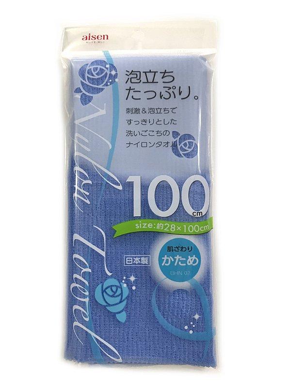 Toalha japonesa de banho 28cmx100cm BHN02 - Aspera - Azul Aisen