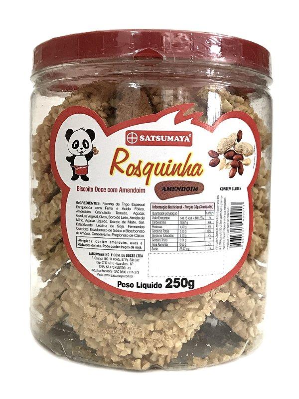 Rosquinhas de Amendoim Pote com 250g Satsumaya