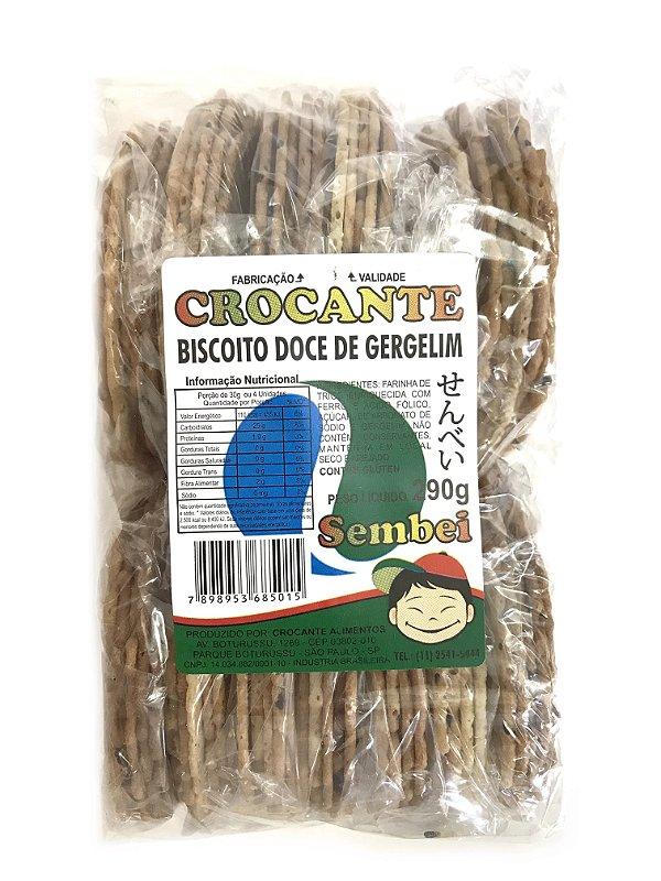 Biscoito Sembei Doce Gergelim 290g Crocante
