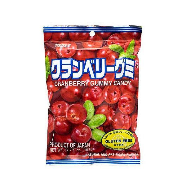 Bala Japonesa Mastigável Cranberry Kasugai Gummy Candy