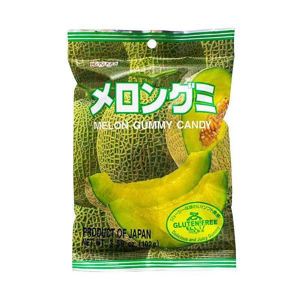Bala Japonesa Mastigável Melão Kasugai Gummy Candy