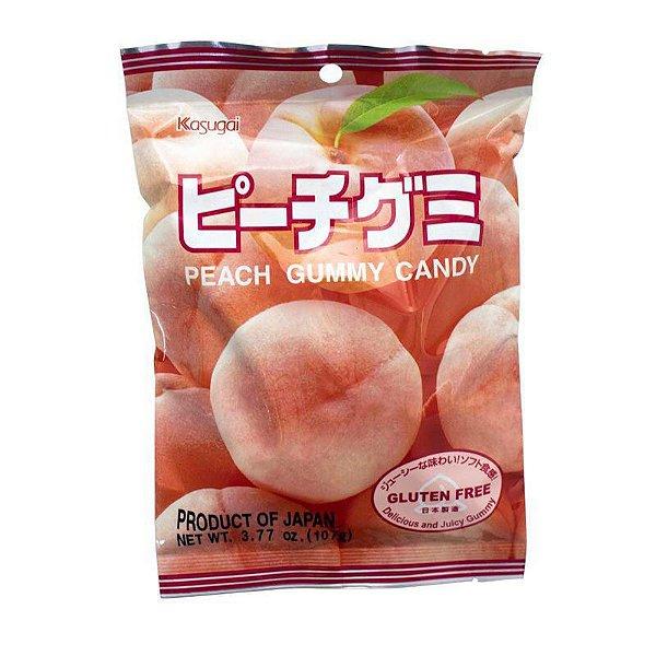 Bala Japonesa Mastigável Pêssego Kasugai Gummy Candy
