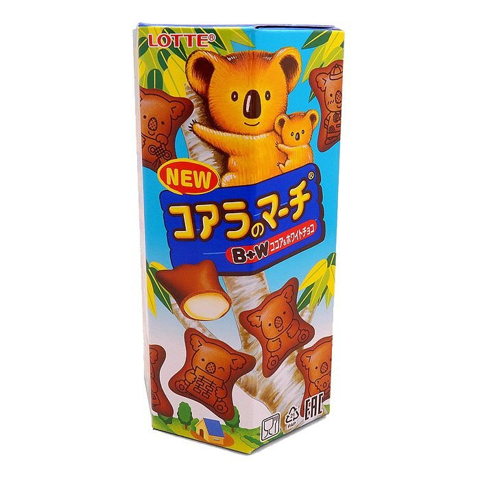 Biscoito Koala Chocolate Branco Lotte