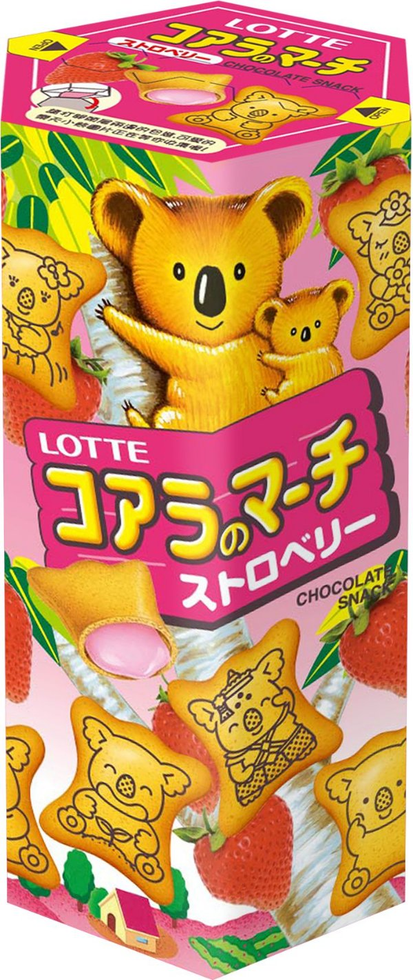 Biscoito Koala Morango Lotte