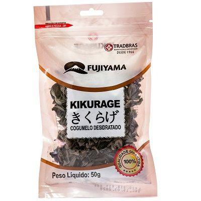 Cogumelo Desidratado Kikurage Funghi Inteiro 50g Fujiyama
