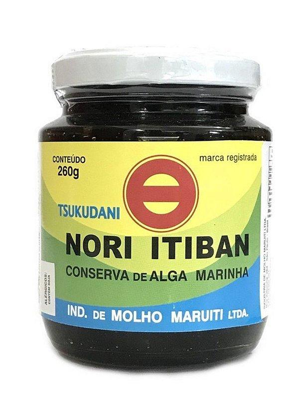 Conserva de Alga Marinha Tsukudani Nori Itiban 260g Maruiti