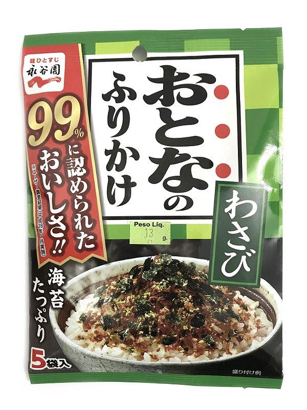 Furikake Otona 5 sachês Nagatanien Sabor Wasabi