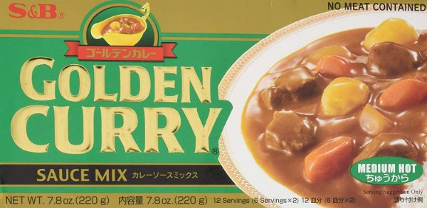 Golden Curry Chukara Médio 220g S&B