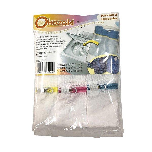 Rede Protetora de Roupas para Máquina de Lavar Kit com 03 unidades