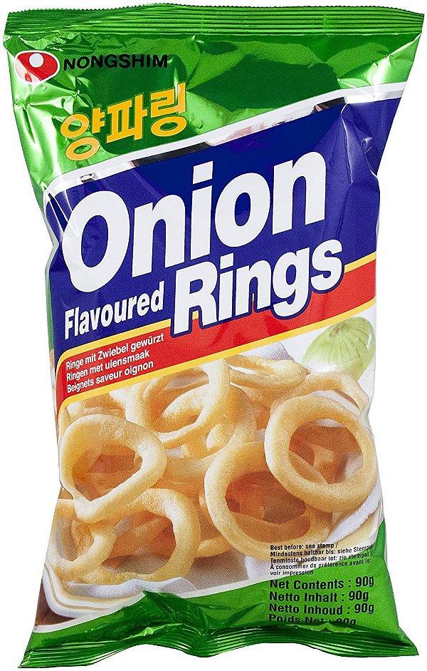 Salgadinho de Cebola Onion Rings 90g Nongshim