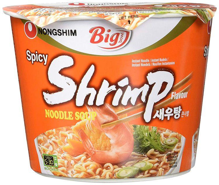 Macarrão Instantâneo em Copo Sabor Camarão Big Bowl Noodle Nongshim