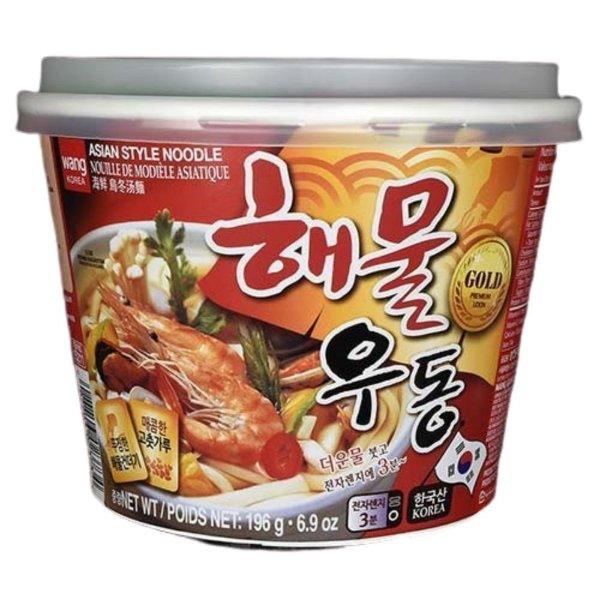Macarrão Instantâneo em Copo Sabor Udon Frutos do Mar Big Bowl Noodle Wang Korea