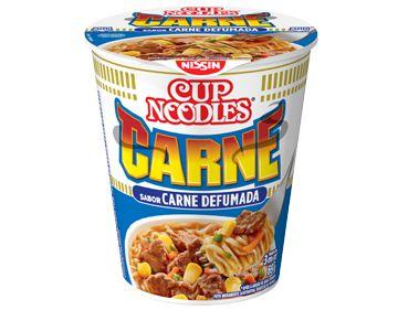 Macarrão Instantâneo em Copo Sabor Carne Defumada Cup Noodles