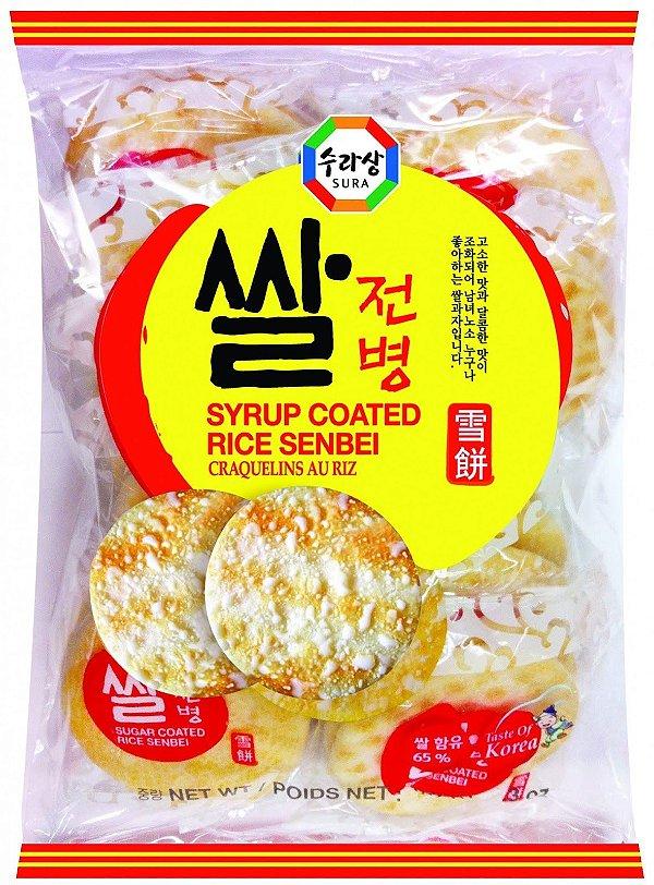Biscoito de Arroz Doce Sembei Surasang