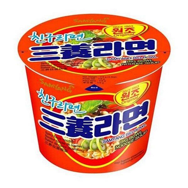 Macarrão Instantâneo em Copo Sabor Carne e Vegetais Picante Samyang Big Bowl