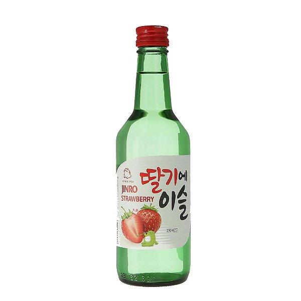 Bebida Coreana Soju Jinro Morango/Strawberry 360ml Hitejinro