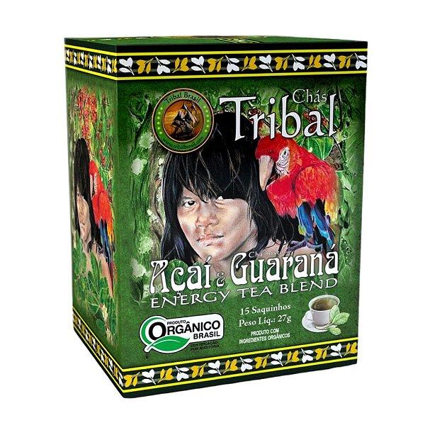 Chá Açaí & Guaraná - 15 sachês - Tribal Brasil