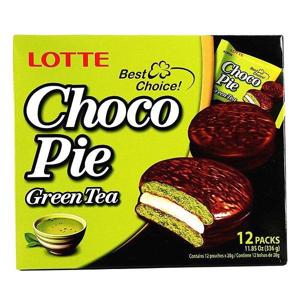 Choco Pie Alfajor de Chá Verde 12 unidades Lotte