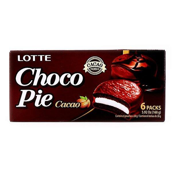 Choco Pie Cacao Alfajor de Chocolate 6 unidades Lotte