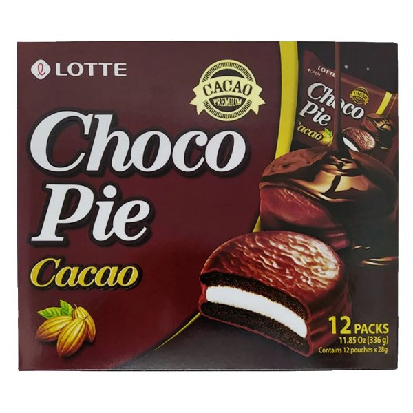 Choco Pie Cacao Alfajor de Chocolate 12 unidades Lotte