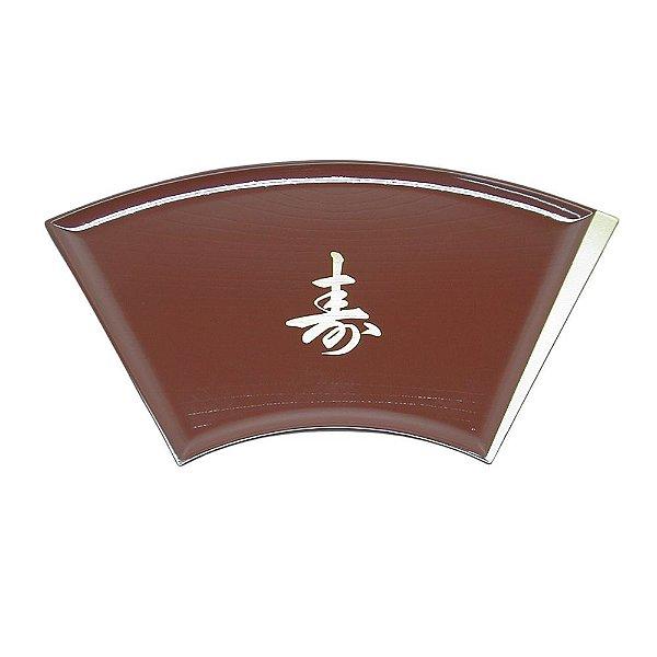 Bandeja Sushi Sashimi Tray Leque Vermelho com Letra (701-K4)