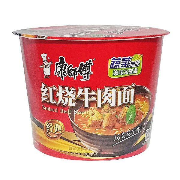 Macarrão Instantâneo em Copo Sabor Carne Assada Guanzhou