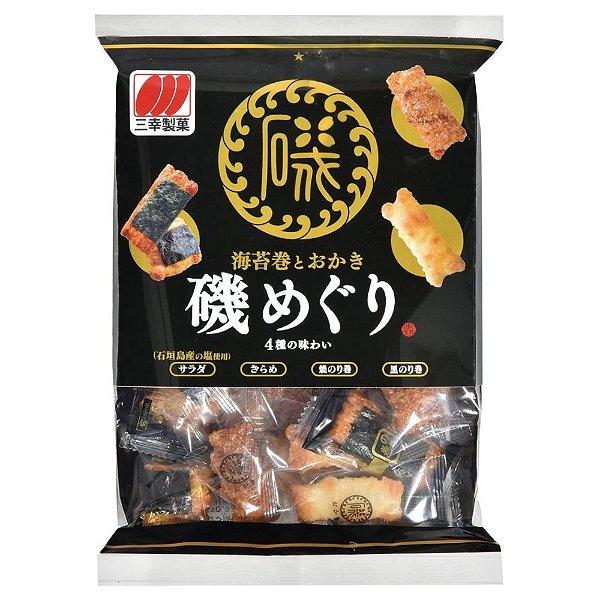 Biscoito de Arroz Sembei Iso Meguri Sanko