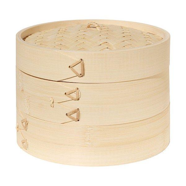 Cesta de Bambu Cozimento a Vapor - 24 cm - (Bamboo Steamer)