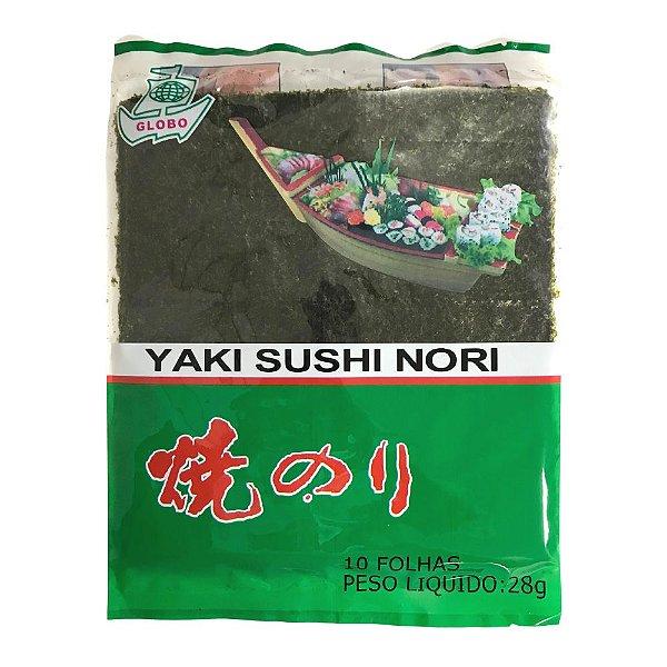 Alga para Sushi - 10 Folhas - Nori Globo