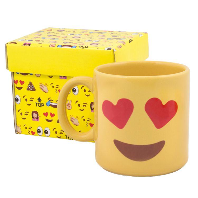 Caneca Divertida Emoji - Apaixonado
