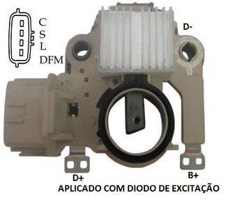 Regulador de Voltagem JAC J2 J3 Turin Mitsubishi Pajero Eclipse Lancer 1025100GG010