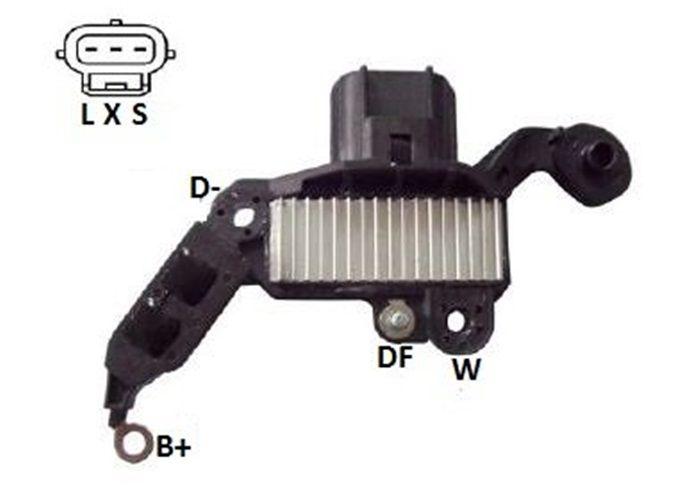 Regulador de Voltagem Fiesta KA EcoSport Courier Escort Motor Motorcraft