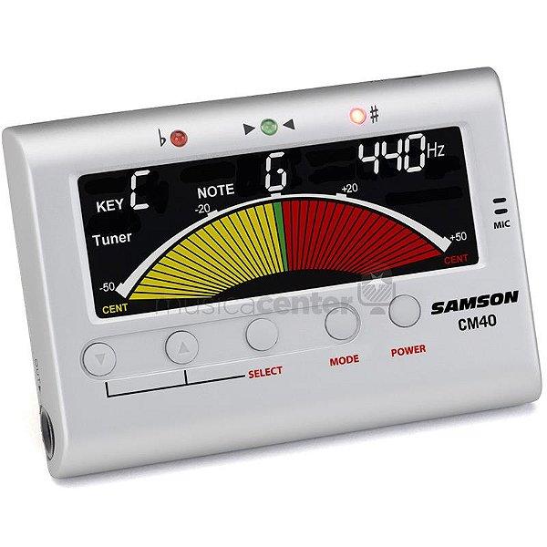 Afinador Digital Cromático Samson CM40 Com Metrônomo