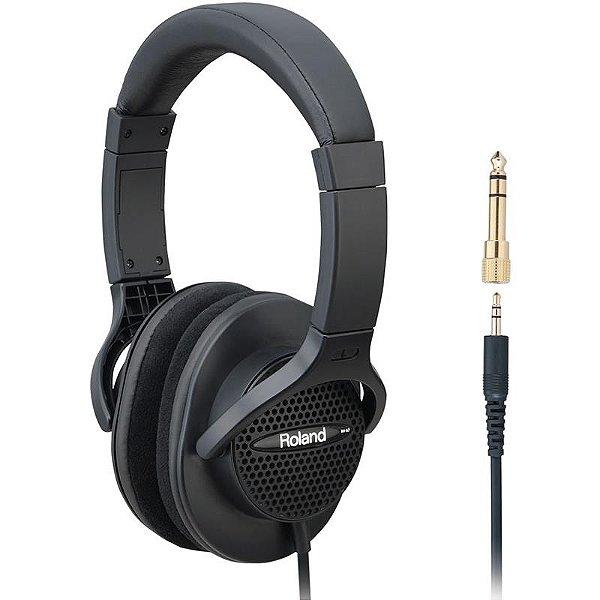 Headphone Fone De Ouvido Roland Rh-a7 Bk Com Adaptador