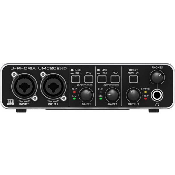 Interface De Áudio Behringer Umc202hd U-Phoria