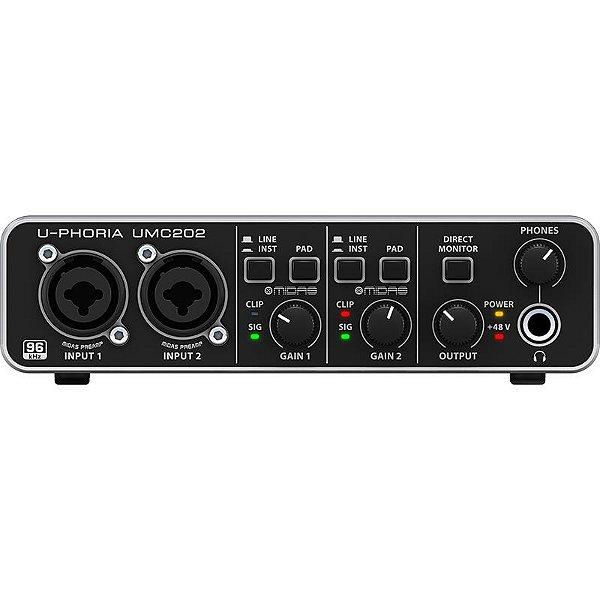 Interface De Áudio Usb Behringer Umc202
