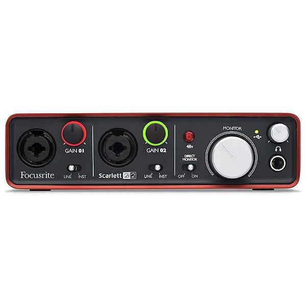 Interface De Áudio Usb Focusrite Scarlett 2i2