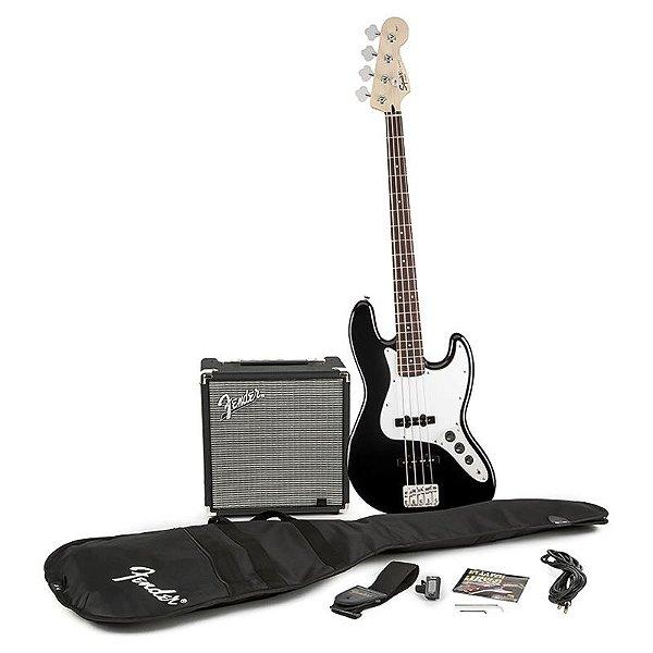Kit Contrabaixo Fender Squier Affinity Jazz Bass Rumble 15 Preto