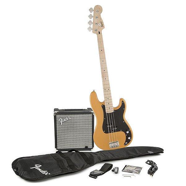 Kit Contrabaixo Fender Squier Affinity Precision Bass Rumble 15 Butterscotch