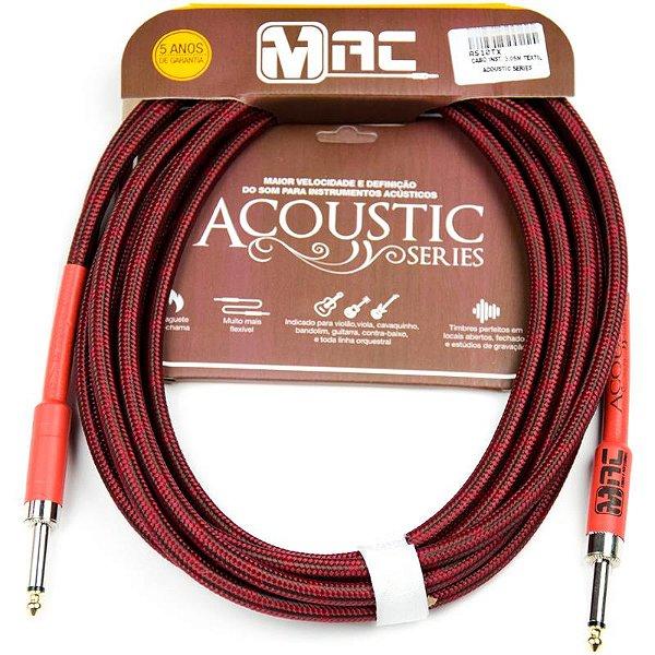 Cabo Para Instrumentos Mac Cabos Acoustic Series 35m Têxtil P10 Reto