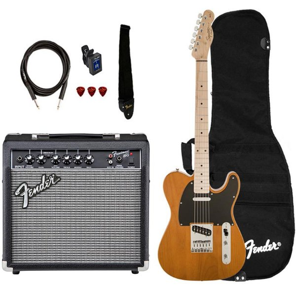 Kit Guitarra Fender Squier Affinity Telecaster Frontman 15 Butterscotch