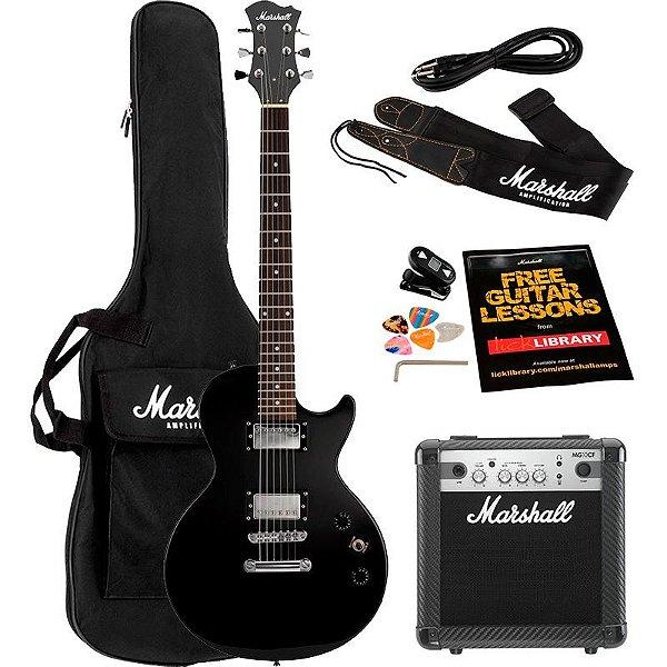 Kit Guitarra Marshall Mgap-B Preta