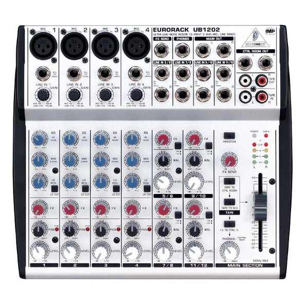 Mesa de som Behringer Eurorack UB1202 Mixer