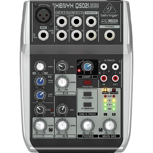 Mesa De Som Behringer Xenyx Q502 Usb Mixer