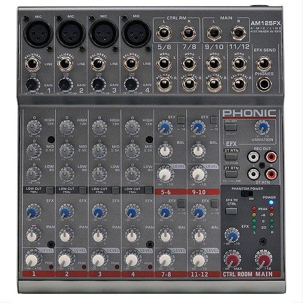 Mesa De Som Phonic Am125fx 12 Canais Com Efeitos