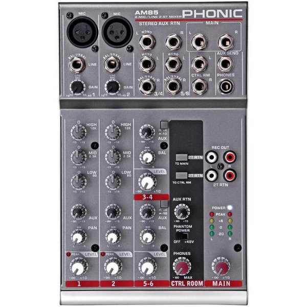 Mesa De Som Phonic AM85 6 Canais
