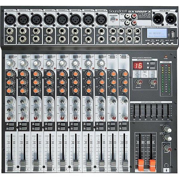 Mesa De Som Soundcraft Sx1202fx Usb