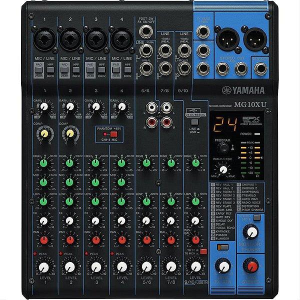 Mesa De Som Yamaha Mg10xu 10 Canais Mixer Com Efeitos