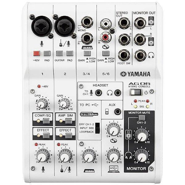 Mesa E Interface Yamaha Ag06 Usb 6 Canais